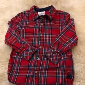 Hanna Andersson buttondown shirt-size 100